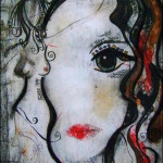 4 14 2011 Suzen JueL Image Acrylic Oil Pastel Ink Coffee Grounds